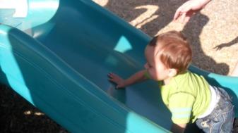 Back up the slide