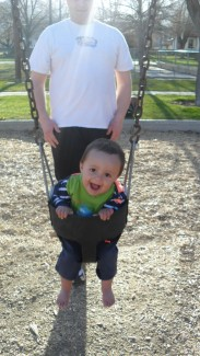 He loved the swing!