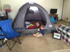 Camping inside